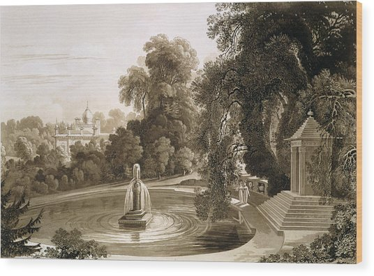 View Of The Temple Of Suryah Wood Print