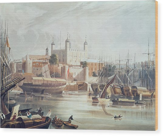 View Of The Tower Of London Wood Print