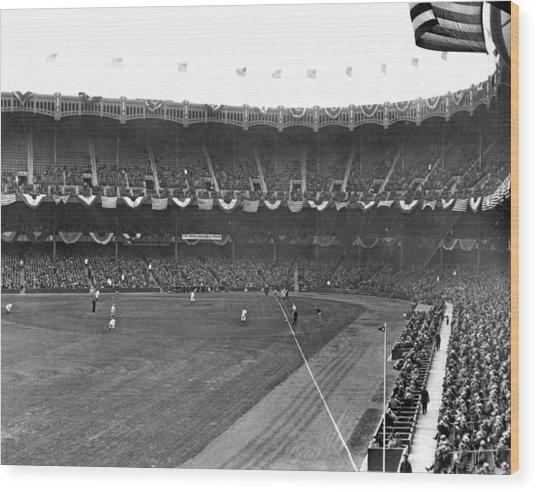 View Of Yankee Stadium Wood Print