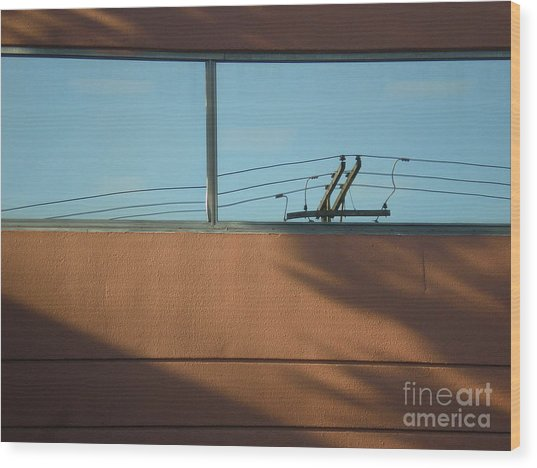 View To A Power Line Wood Print