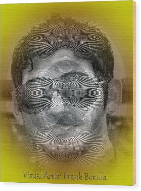 Wood Print featuring the digital art View by Visual Artist Frank Bonilla