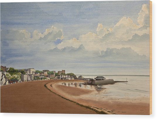 Viking Bay Broadstairs Kent Uk Wood Print by Martin Howard