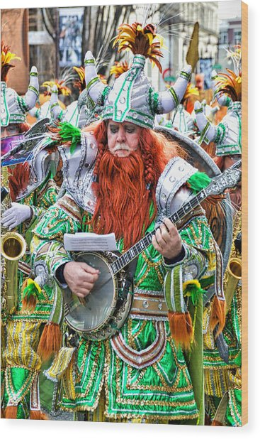 Viking Mummer Wood Print