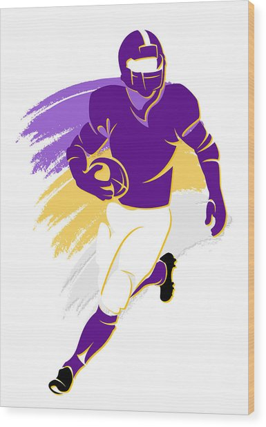 Vikings Shadow Player2 Wood Print