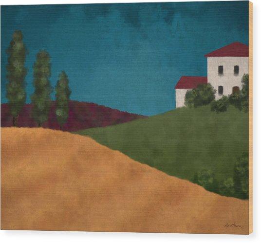 Villa I Wood Print