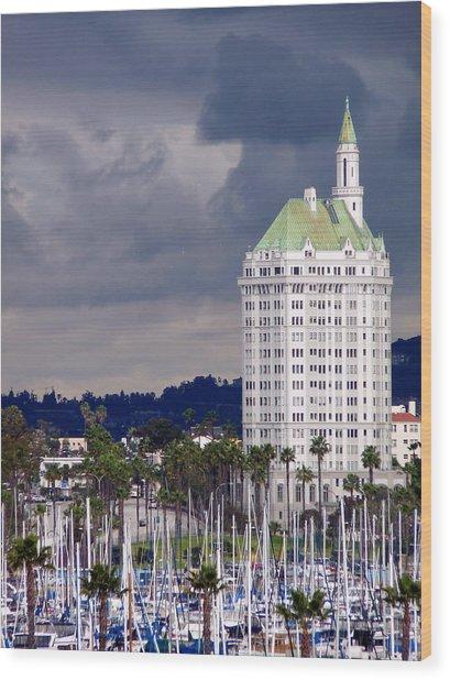 Villa Riviera Long Beach Wood Print