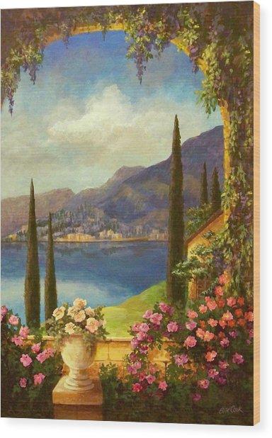 Villa Rosa Wood Print