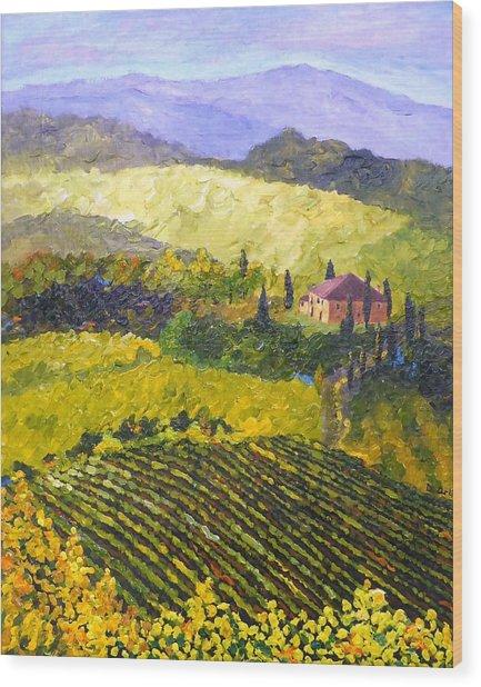 Villa Toscana Wood Print