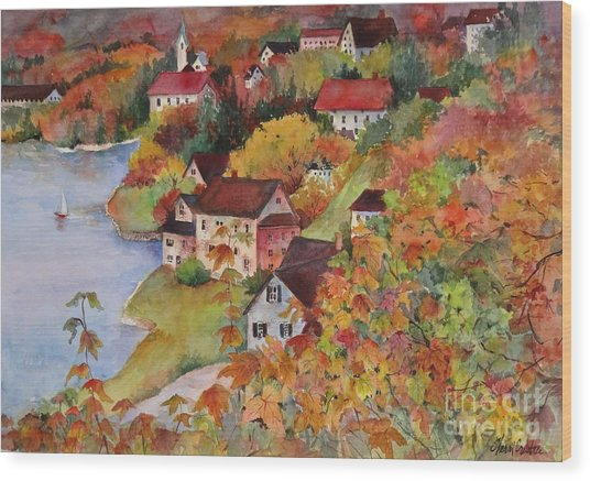 Village By The Sea Wood Print by Sherri Crabtree