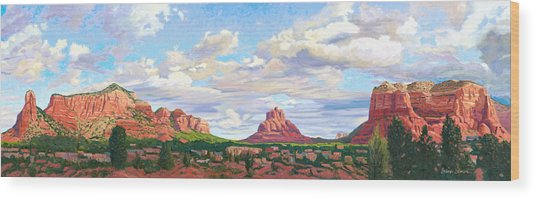 Village Of Oak Creek - Sedona Wood Print by Steve Simon