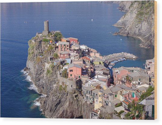 village of Vernazza Wood Print by Ioan Panaite
