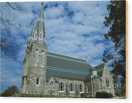 St Thomas Of Villanova Church Wood Prints And St Thomas Of Villanova