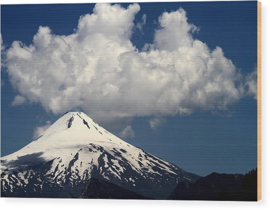 Villarrica Volcano Wood Print by Arie Arik Chen