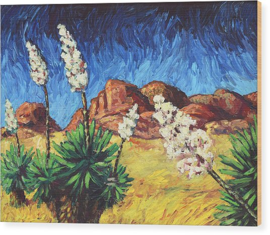 Vincent In Arizona Wood Print