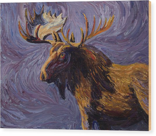 Vincent Van Moose Wood Print
