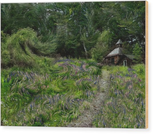 A Lupine Tale  Vincents View Wood Print