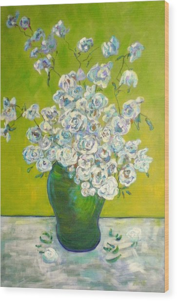 Vincents' Flowers Wood Print by Marilyn Hurst