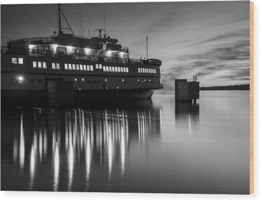 Vineyard Ferry Wood Print