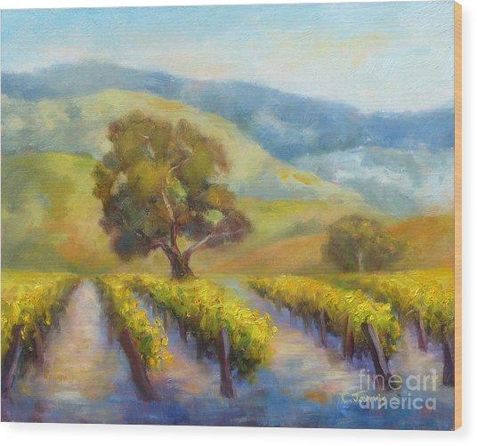 Vineyard Gold Wood Print