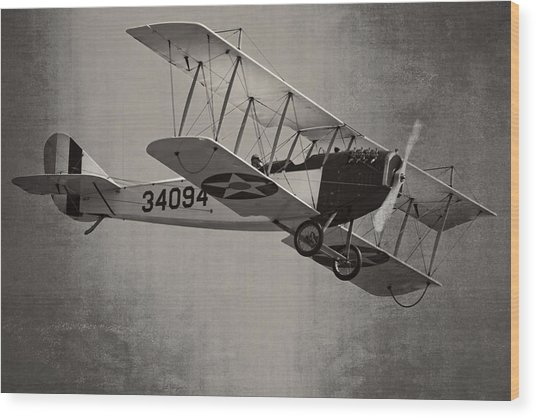 Vintage 1917 Curtiss Jn-4d Jenny Flying  Wood Print