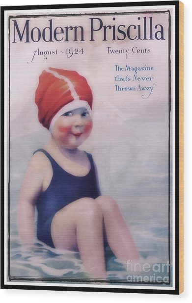 Vintage 1924 - Modern Priscilla Wood Print
