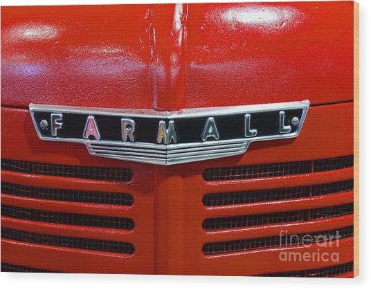 Vintage 1947 Farmall Tractor Wood Print