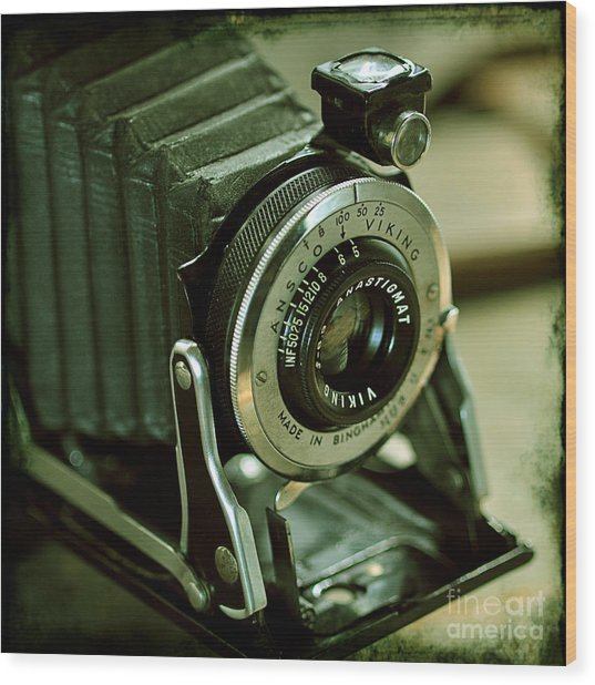 Ansco Viking Camera Wood Print