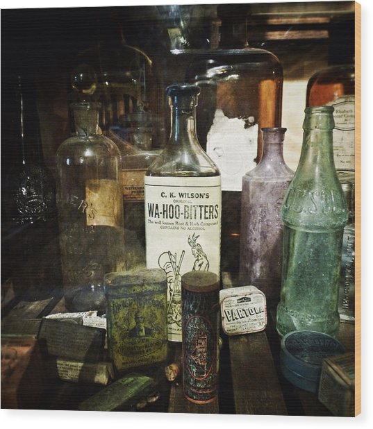 Vintage Apothecary Wood Print