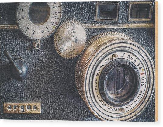Vintage Argus C3 35mm Film Camera Wood Print
