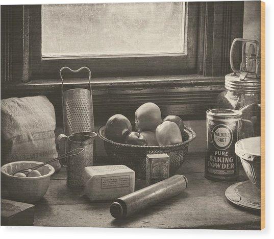 Vintage Art - All The Fixings Wood Print