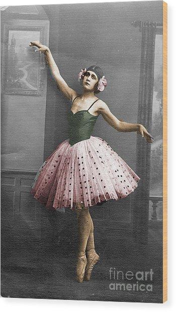 Vintage Ballerina  Wood Print