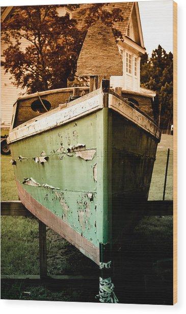 Vintage Boat Wood Print