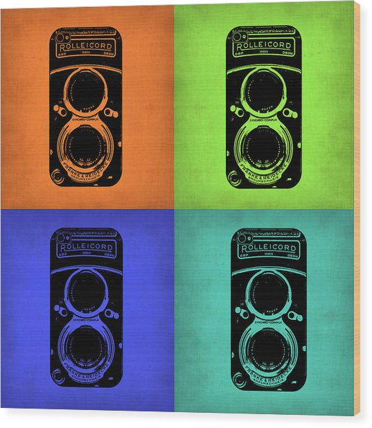 Vintage Camera Pop Art 1 Wood Print