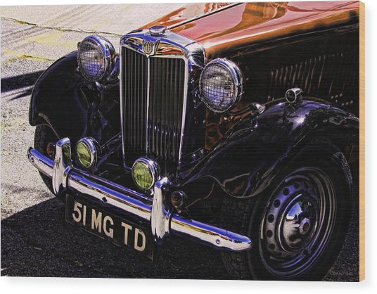 Vintage Car Art 51 Mg Td Copper Wood Print