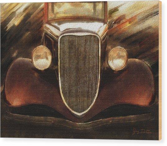 Vintage Car Wood Print