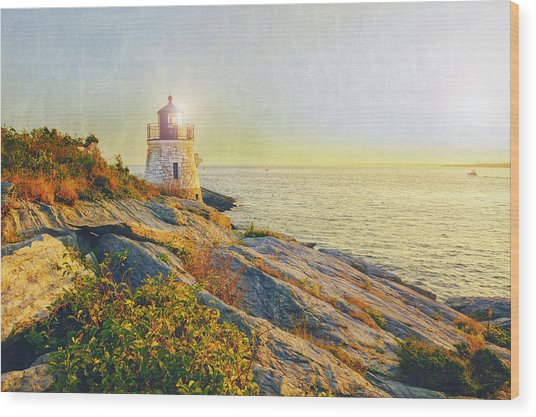 Vintage Castle Hill Light Wood Print