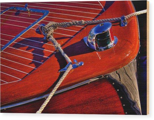 Vintage Chris Craft Boat Wood Print