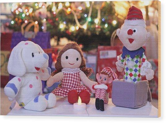 Vintage Christmas Elf Island Of Misfit Toys Wood Print