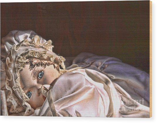 Vintage Doll Wood Print