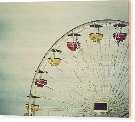 Wood Print featuring the photograph Vintage Ferris Wheel by Kim Hojnacki