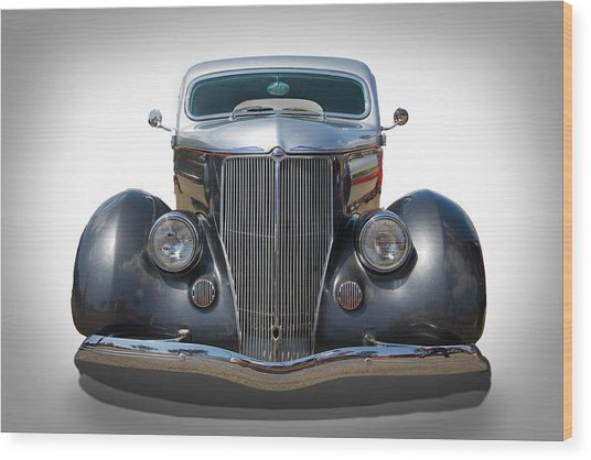 Vintage Ford Wood Print by Peter Tellone