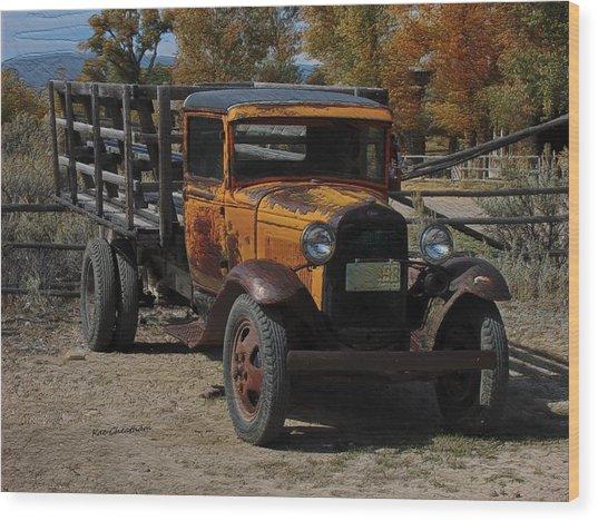 Vintage Ford Truck 2 Wood Print