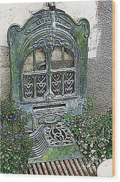 Vintage Garden Grate Wood Print
