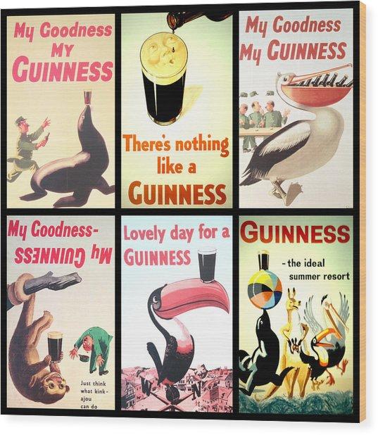 Vintage Guinness  Wood Print