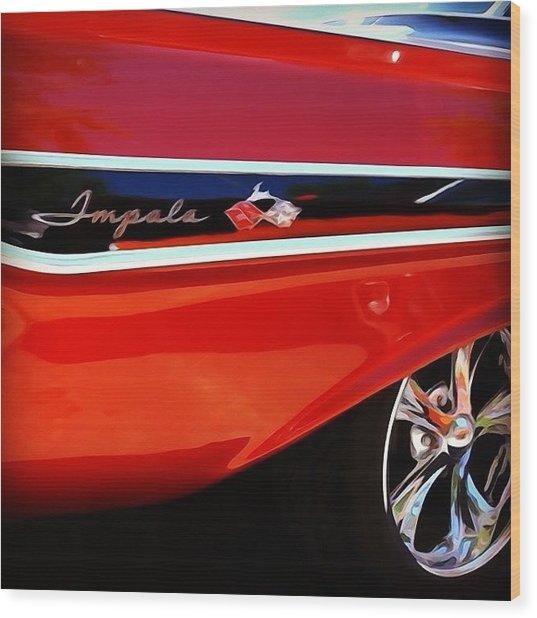 Vintage Impala Wood Print