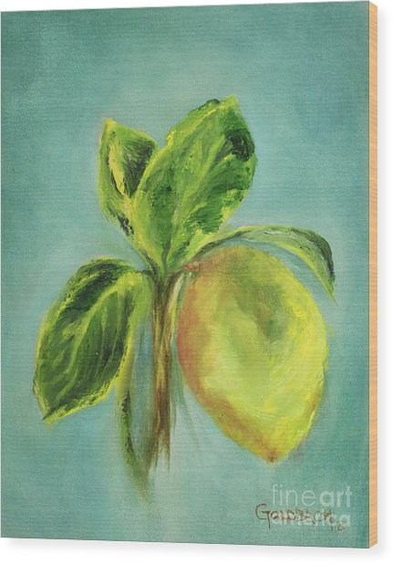 Vintage Lemon I Wood Print