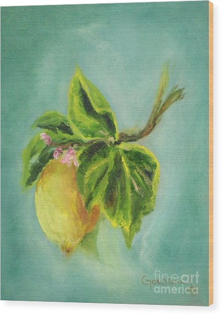 Vintage Lemon II Wood Print