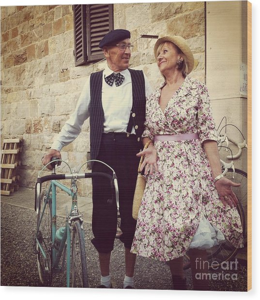Vintage Love At L'eroica Wood Print