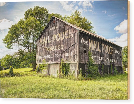 Vintage Mail Pouch Barn Wood Print