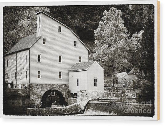Vintage Mill Wood Print by John Rizzuto
